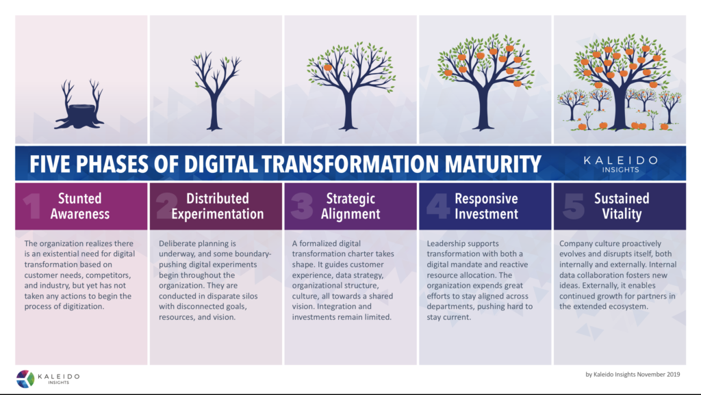 Five Phases of Digital Transformation Maturity